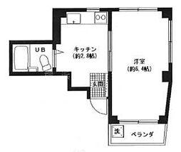 神奈川県横浜市西区戸部町1丁目の賃貸マンションの間取り
