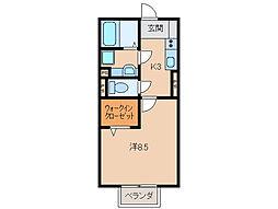 和歌山県和歌山市布引の賃貸アパートの間取り