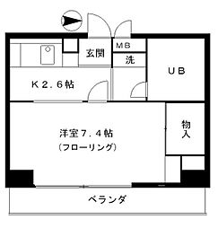 東京都江東区東陽3丁目の賃貸マンションの間取り