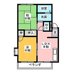 ハイツセンダ[2階]の間取り