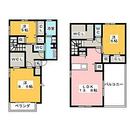 フェリーチェハウス[2階]の間取り