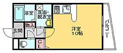 第7ホウシュウコーポ[2階]の間取り