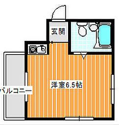 ヴィラミサキ[4階]の間取り
