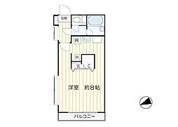 東京都世田谷区玉川台2丁目の賃貸マンションの間取り
