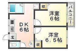 H・K離宮[3階]の間取り