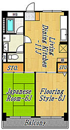 第2ニュー和幸ビル[6階]の間取り