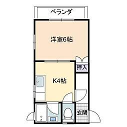 兵庫県加古川市尾上町旭1丁目の賃貸アパートの間取り