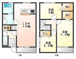 [一戸建] 兵庫県加東市南山3丁目 の賃貸【/】の間取り