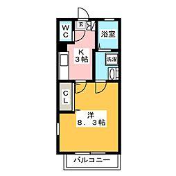 リブレア筥松[1階]の間取り