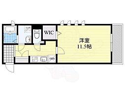 西麻布SBMマンション 2階1Kの間取り