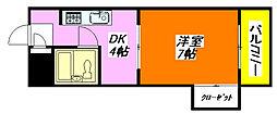 北島ハイツ 704号室[7階]の間取り