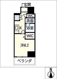 AZUR YABACHO[8階]の間取り