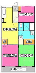 黒田マンション[2階]の間取り