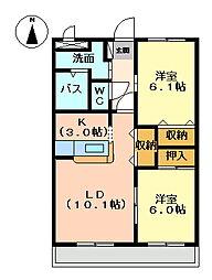ヴァンベール2[2階]の間取り