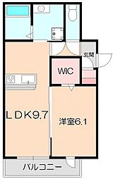D-room中桜塚1丁目[A301号室]の間取り