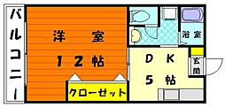 プチメゾーン和白[1階]の間取り