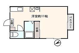 DUNE江之島 2階ワンルームの間取り