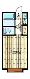 ミュワヤシロ[205号室]の間取り