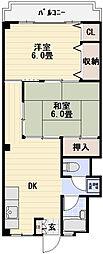 綾瀬フラワーマンション[3階]の間取り