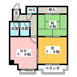 コーポ山崎[1階]の間取り