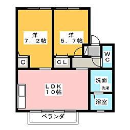 クレイン亀が洞[1階]の間取り