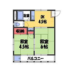 中村住宅[203号室]の間取り