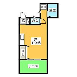 レスコ桜[1階]の間取り