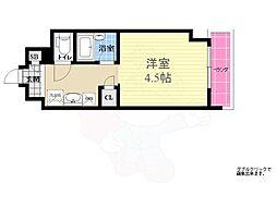 キャンパスヴィレッジ京都西京極 1階1Kの間取り