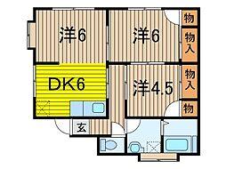 岡崎ハウス[2階号室]の間取り
