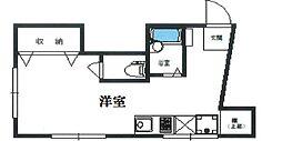 東京都渋谷区恵比寿4丁目の賃貸マンションの間取り