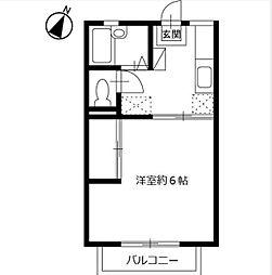 ラ・エスペランサ[2階]の間取り
