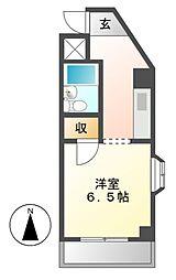 ジュネス瓢箪山[3階]の間取り