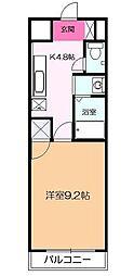 神奈川県平塚市北金目1丁目の賃貸マンションの間取り