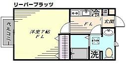 神奈川県横浜市都筑区大丸の賃貸アパートの間取り