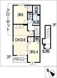 フレーシュM[2階]の間取り