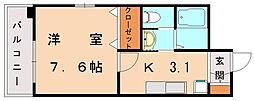 BBS古賀駅前[7階]の間取り