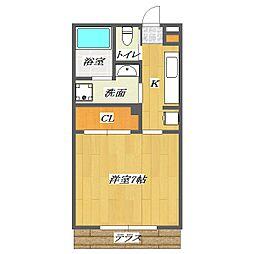 Apartment TokiII[105号室]の間取り