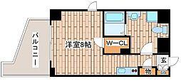 JR東海道・山陽本線 灘駅 徒歩2分の賃貸マンション 3階ワンルームの間取り
