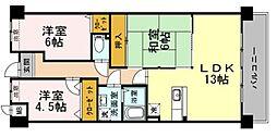 兵庫県神戸市西区玉津町二ツ屋1丁目の賃貸マンションの間取り
