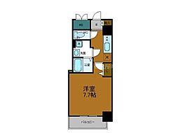 Osaka Metro中央線 堺筋本町駅 徒歩4分の賃貸マンション 10階1Kの間取り