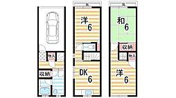 [一戸建] 大阪府大東市三箇6丁目 の賃貸【/】の間取り