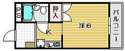 イーストヴィレッジ茨木[3階]の間取り