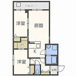 北海道札幌市中央区宮ケ丘2丁目の賃貸マンションの間取り