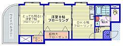 都営三田線 西巣鴨駅 徒歩3分の賃貸マンション 6階2DKの間取り