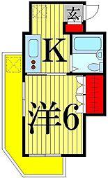 東京都足立区千住3丁目の賃貸マンションの間取り