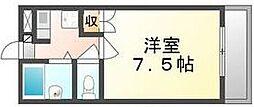 香川県高松市番町4丁目の賃貸アパートの間取り