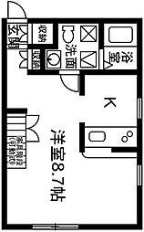 プリマ前橋六番館102[1階]の間取り