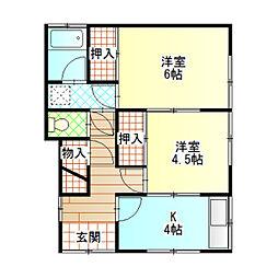 菅沼アパート2[201号室]の間取り