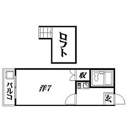 静岡県浜松市中区城北2丁目の賃貸アパートの間取り