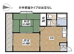 東京都昭島市大神町3丁目の賃貸アパートの間取り